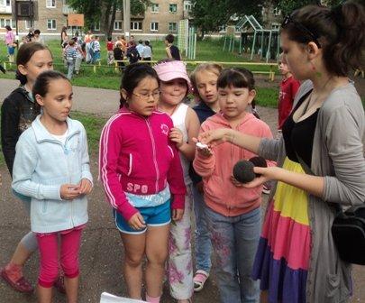 В летнем лагере конкурсы для детей